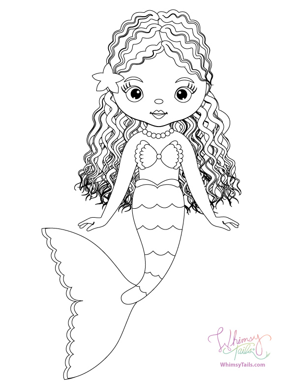Free Coloring Pages | Whimsy Tails® Mermaid and Shark Blankets