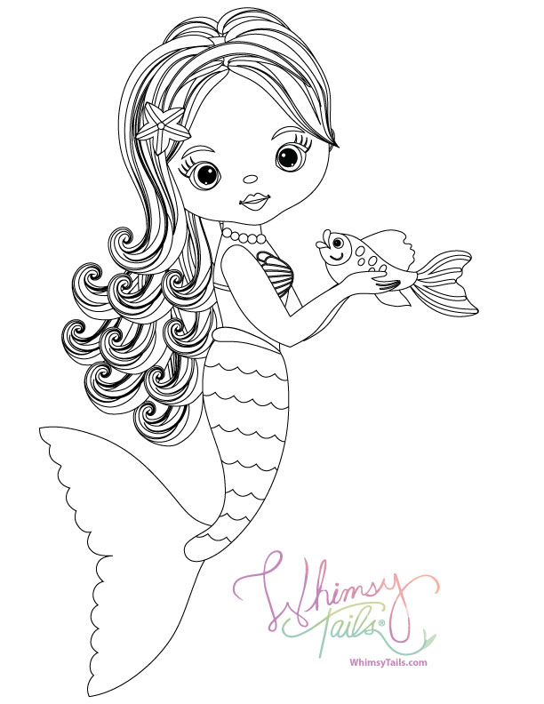 - Free Coloring Pages Whimsy Tails® Mermaid And Shark Blankets